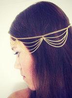 Hair Chain Sexy Personalized  Multilayer Tassel Chain Hairband Wedding Headband Hair Accessories Jewelry For Women Headwear
