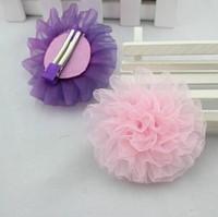 2014 New Fashion baby girls hair grips chiffon flowers hair clips hairpins for kids girls hair accessories