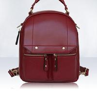 Korean backpack shoulder bag pu leather fashion college style double pocket bag  31*26*12CM NBB104 Y8PA