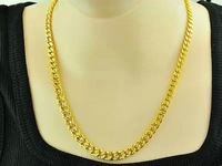 Pure gold necklace male 24k gold solid hollow necklace marry gold chain 999 fine gold real gold low price