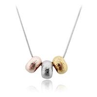 Austria crystal female pure silver female short design pendants champagne gold -