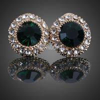 Classy Round Earrings Girl Crystal Ear Stud Shiny Jewelry Jasper      #gib