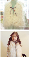 2014 winter  Soft Girl  fur vest  2 color   white and black