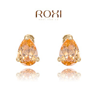 earing gemstone jewelry brincos gift classic genuine austrian crystals fashion zircon water stud earrings hot sale for party