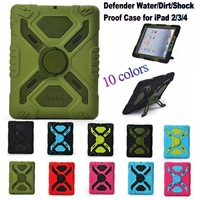 New Hot Sale Cute Pepkoo Defender Military Water/Dirt/Drop Proof Case Cover For iPad 2 3 4