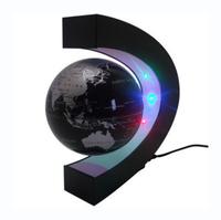 Hot Sale LED Light C shape Decoration Magnetic Levitation Floating World Map Globe Free Shipping !