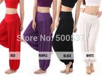 TP3005 Pants  Capris Modal Women Harem Yoga Sport Pant Belly Elastic Waist Dance Club Boho Wide Leg Pants Loose Long Trousers
