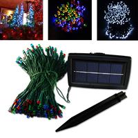 Free Shipping LED Solar String Light 200 LED Xmas Fairy Light Garden Tree &fence Decor 8 Colors