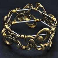 Wholesale 2014 New Hot Sale Europe Jewelry Rhinestone Gold Bangle Vintage Jewelry Luxury Women Butterfly Cuff Indian Bracelet