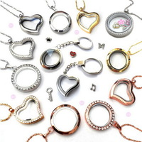 (Mini order is $10)1Pcs magnetic Floating Charms Living Locket(U can choose u like from Mix style)Pendants Necklaces&Bracelets
