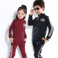 Wholesale 2014 new children suit boys and girls sports suit children cotton sweater set Spring and Autumn clothing