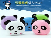 Fashion Smile Panda Mp3 , support micro sd /TF card, 5colors ,  100pcs /lot,