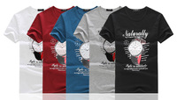 2014 summer new men's fashion urban youth popular printing round neck short sleeve t-shirts wholesale watches