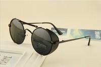 STEAMPUNK round Designer Fashion steam punk Metal OCULOS de sol women SUNGLASSES New Men Retro CIRCLE Sun GLASSES gafas
