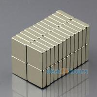 50pcs Bulk Super Strong Strip Block Magnets Rare Earth Neodymium 10 x 10 x 3 mm N50 Free Shipping