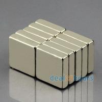 10pcs Bulk Super Strong Strip Block Magnets Rare Earth Neodymium 10 x 10 x 3 mm N50 Free Shipping
