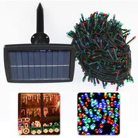 Free Shipping Solar String Lights 500 LED xmas Wedding Party Fairy Light Blue