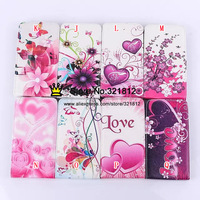 For Samsung Grand 2 G7106 Flip Leather Fashion Flower Butterfly UK USA Flag Case Love Heart Rose Pouch 100PCS Free Shipping