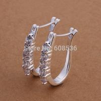 Free Shipping Wholesale fashion jewelry Earrings ,925 Sterling silver Earrings .  QE312