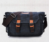 2014 men Canvas Casual Fashion Designed beautiful bags Fashion Messenger Contrasting thread Bag