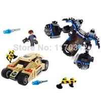 Original Box Batman The Bat Vs Bane: Tumbler Chase Building Blocks Sets Bozhi 98044 Classic Toys Bricks Children