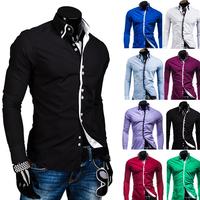 2014 Hot Sale New Mens Shirts Casual Slim Fit Stylish Mens Dress Shirts Men Fashion Shirts