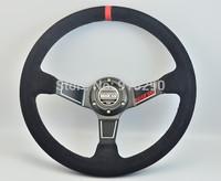 New Arrival: 350MM real Leather Steering Wheel /Deep Dish suede Steering Wheel