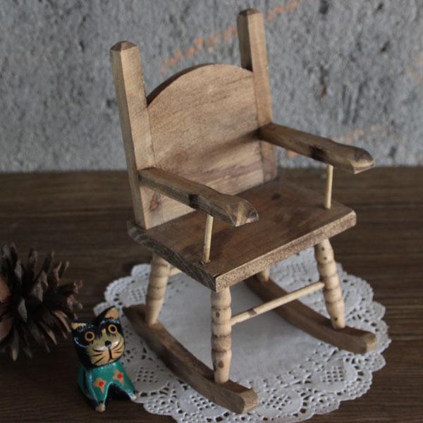 Miniature Rocking Chair~ Enfeites Para Jardim No Atacado