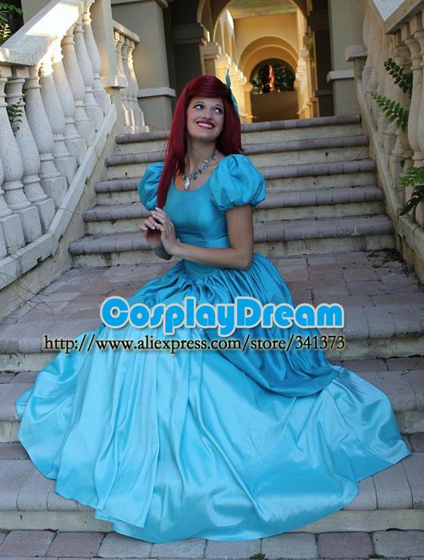 Little Mermaid Blue Dress Little Mermaid Party Dress