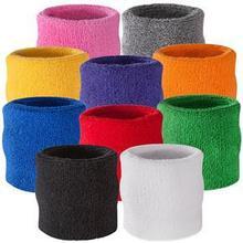 2014 New Fashion 100% Cotton Sweatband Wristband/ Sweat Wrist Band for Sport Tennis Badminton 3 Sizes 5 Colors(China (Mainland))