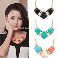 Free Shipping Korean Style Women Fashion Vintage Crystal Flower Crystal Bib Choker Statement Necklace A1-018
