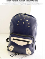 2014New ! Women Casual  Fashion Designed PU leather Backpacks Bag Charm student school bags
