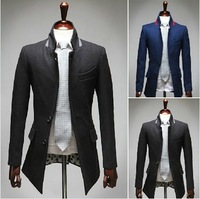 2014 Free Shipping Fine New Men's Brand Fashion Classic Two Button Small Slim Fit Leisure Blazer Suit Jacket 5 Color 4 Size
