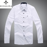 men shirt casual shirts dudalina man 2014 brand men's slim fit male blouse camisa camisetas masculinas roupas masculino