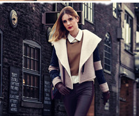 2014Autumn And Winter European and American New Fashion Clothes Women Jacket tide PlusSize S-XL Wild Wool&Blends Coat LadiesNick
