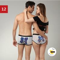 1 set = 2 pcs (Bear Style ) Cartoon Seamless Lovers Underwear & Ladies' underwear + Men's Boxer Shorts