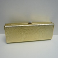 Free Shipping Fashion Women's Handbag Golden Color Cross-body Party Bag