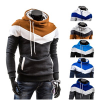 2014 new men's color Hooded Fleece Hoodie sleeve head self thickening