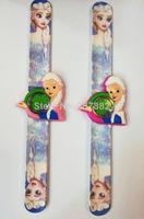 Wholesale 100pcs/lot! 2014 New Arrival Frozen Princess Snap Watch Cartoon Slap Watch Rubber Jelly Watch A3384 Free Shipping