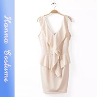 2014 summer sexy v-neck sheath dresses women clothes new arrival sleeveless mini dress for woman vestido