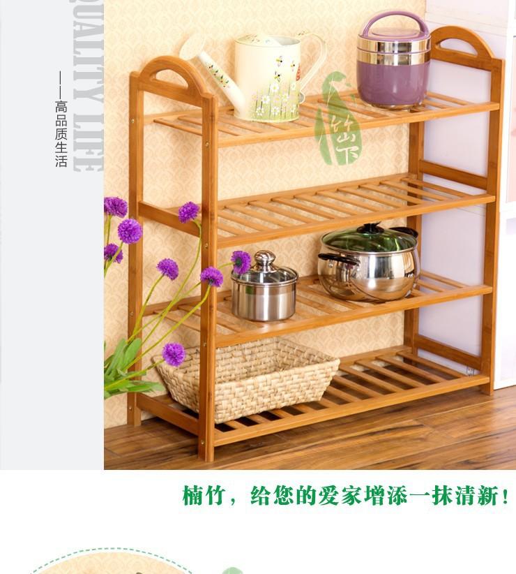 Bambú zapatero naturales libres de 3,4,5 desmontable de nivel de zapatos de almacenamiento de rack