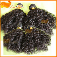 "Sale! afro curly human hair brazilian virgin hair weave queen hair extension 1B color 10""-26"" 100g/pcs"