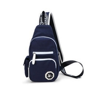 Male chest pack female canvas cross-body bag men small bag casual sports bag ride bag