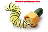 New as seen on tv kitchen accessories cooking tools vegetable slicer vegetable spiralizer cucumber spiral vegetable slicer
