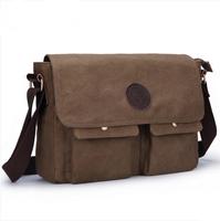 Vintage canvas man casual shoulder messenger bag