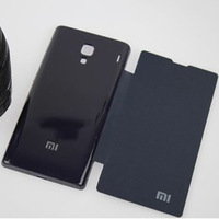 High Quality Protective Flip Leather Cover For Xiaomi Red Rice leather case+ Retail Box +Free ship