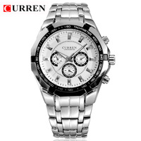 4 Colors CURREN 8084 Branded Men's Watches Fashion Watch High Quality Stainless Steel Watches 1piece/lot BW-SB-841