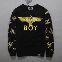 2014 New Designer Fashion Boys Hoodies Sweatshirts Gold Eagle Print Cool Hoody Sweatshirts For Men and Women