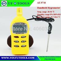 AZ 8716 Digital Hygrometer-probe/Humidity Temp. Meter   /DP/WBT/Memory