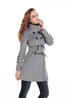 Female Winter Coat Women Overcoat Double Breasted Overwear Warm Outdoor Wool Parka Trench Coat New Arrival